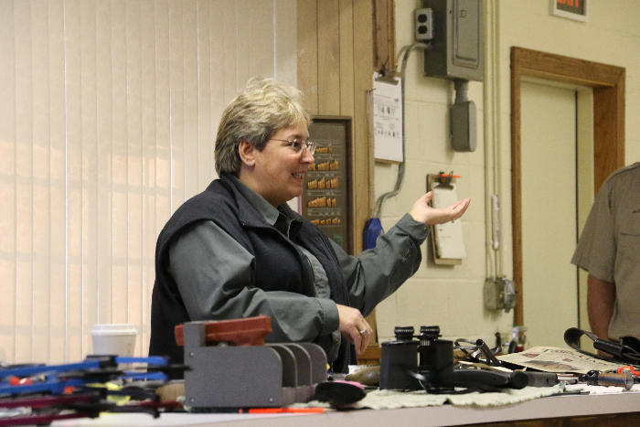Linda, our Department of Natural Resources explains the duties of the Wildlife officer.