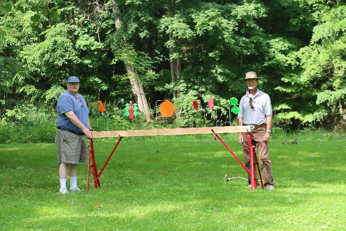 Vaughn and Paul placing the  Target Rack.
