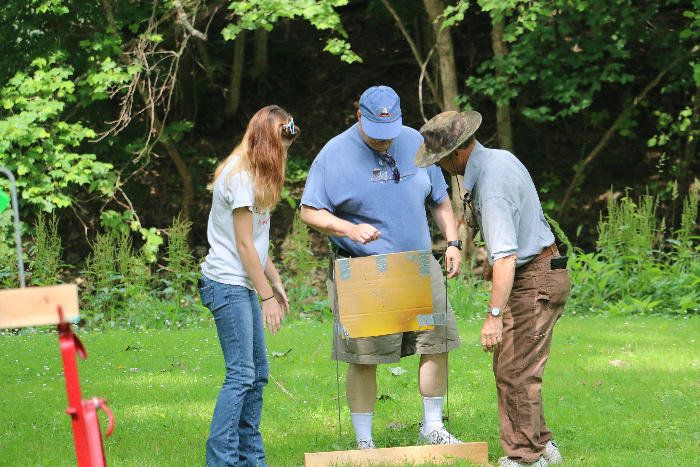 Inez, Paul & Vaughn placing a stationary target
