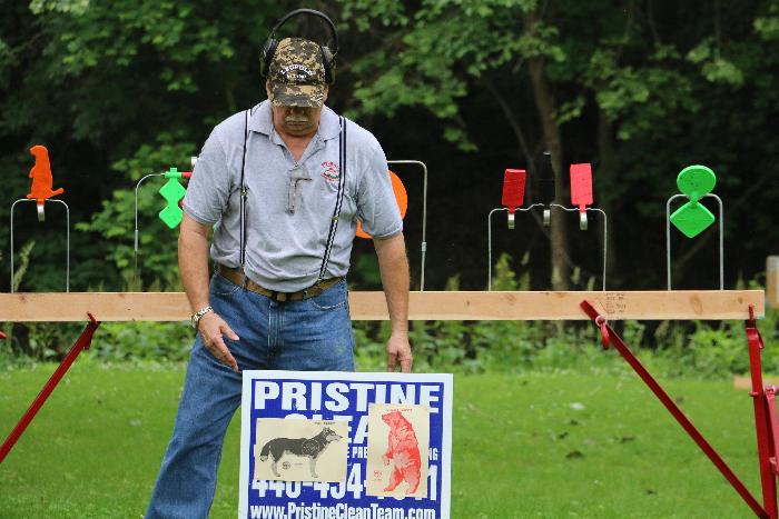 Chuck Placing a target