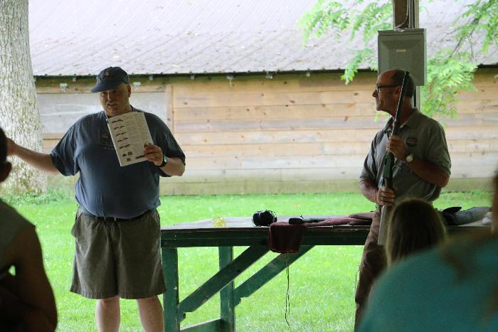 Paul & Vaughn explaining the four rules of Gun Safety