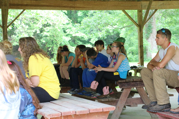 The campers were very attentive.